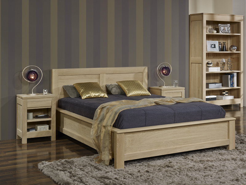 Lit Collection Nature 160 200 Realise En Chene Massif Finition Chene