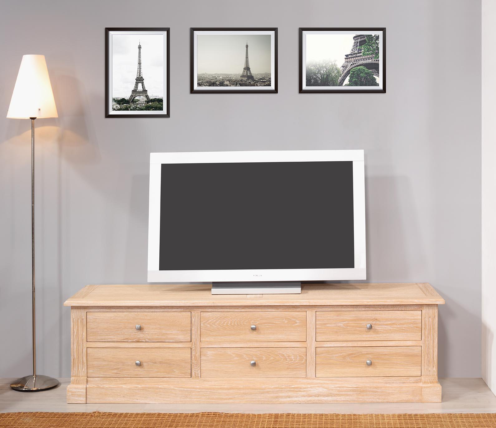 Meuble TV 16/éme Laurent  en chêne de style Directoire SEULEMENT 1 DISPONIBLE