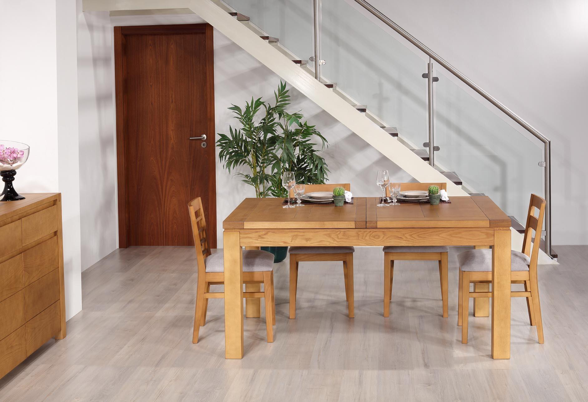 Table de repas rectangulaire 160X100 Suzanne  en Frêne Ligne Contemporaine