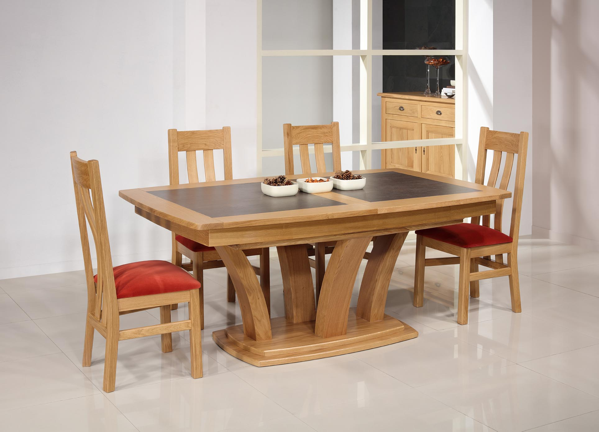 Table De Repas Contemporaine 180x110 Realisee En Merisier Massif