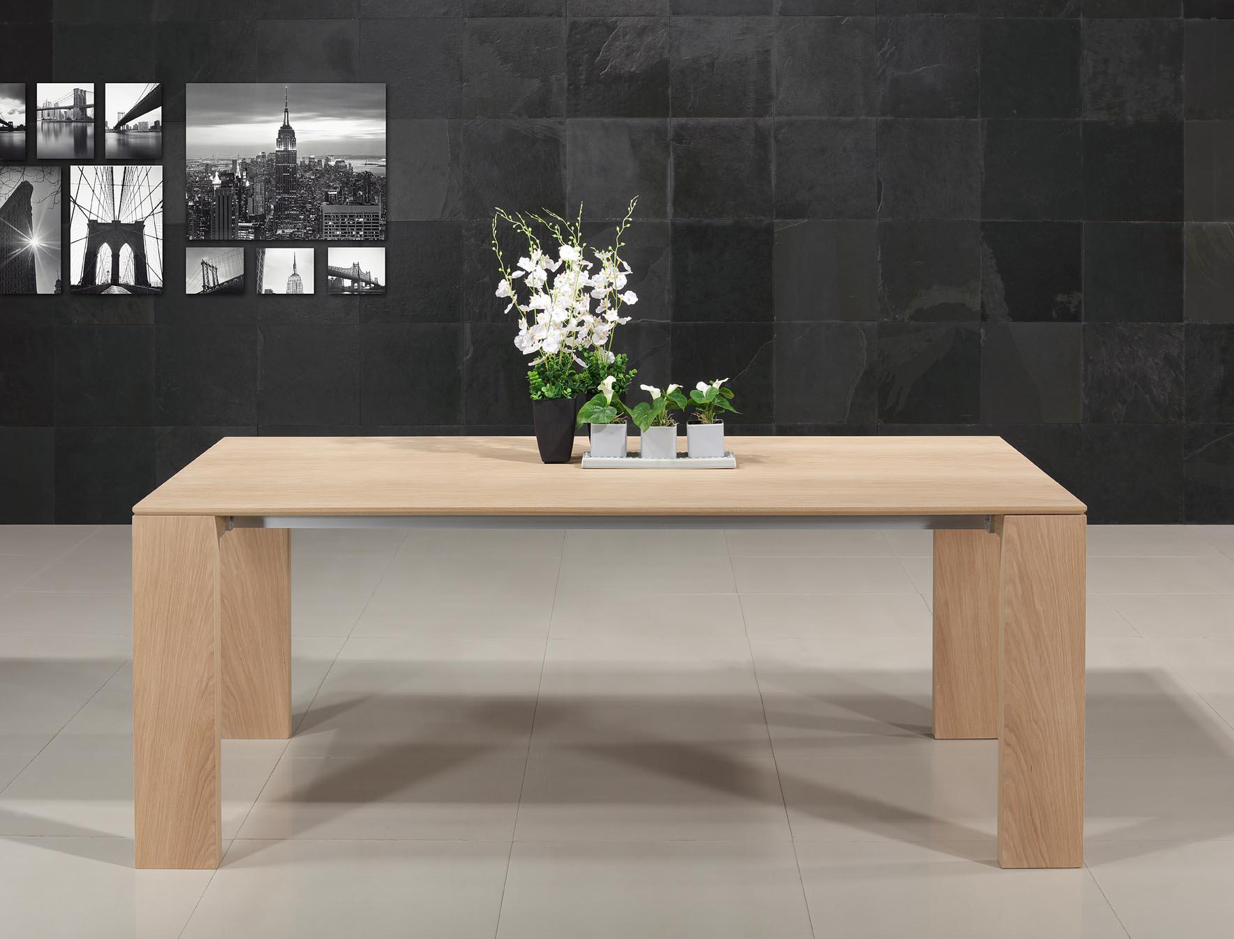Table rectangulaire  196x100 de salle à manger avec 1 allonge intégrées de 88 cm C'EST LA DERNIERE (cette table ne sera plus fabriquée)