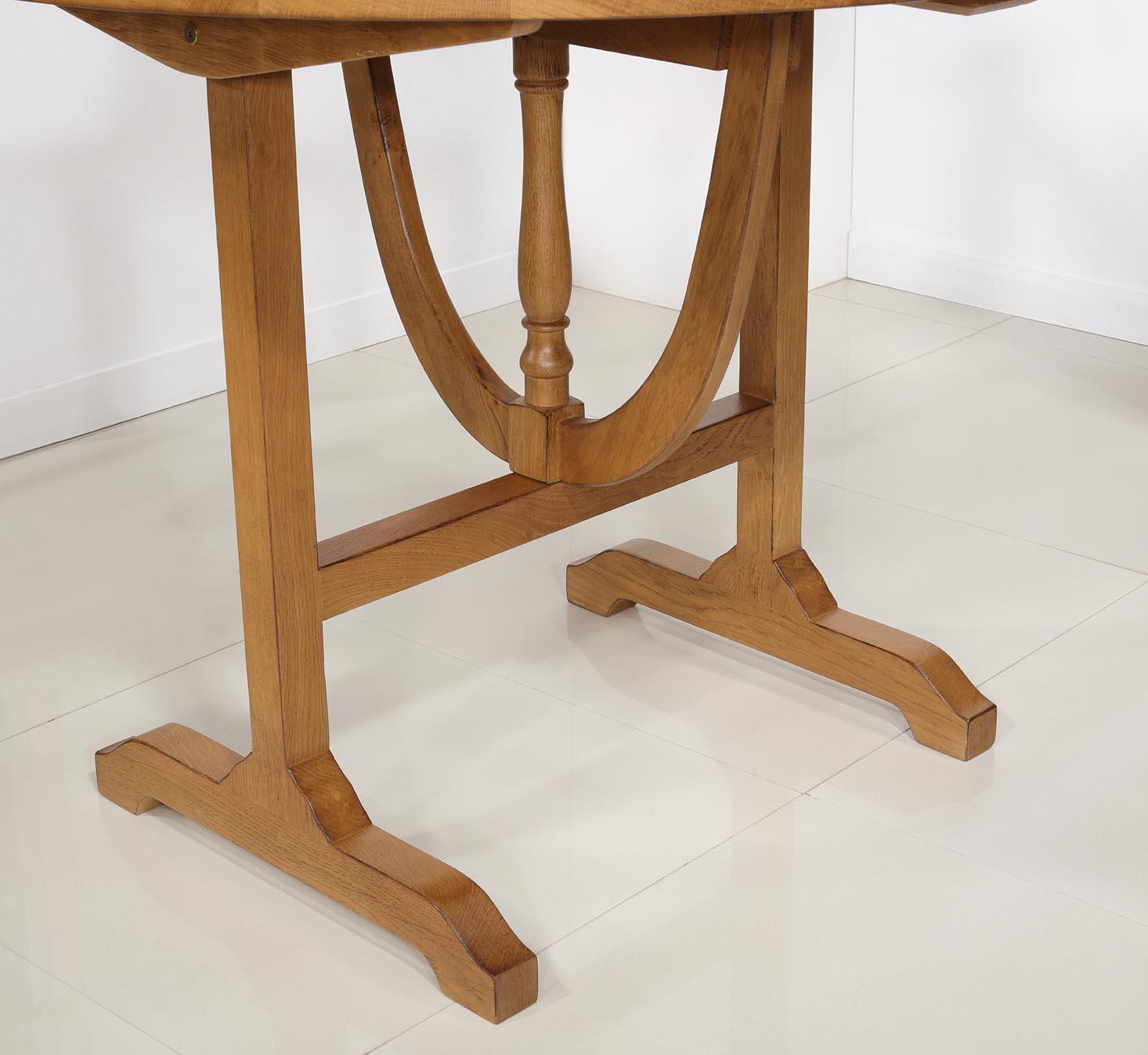 table en bois ronde pliante