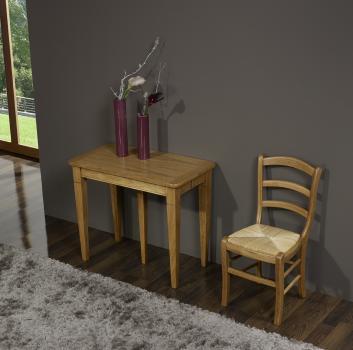 Console ou table Extensible  en Chêne de style Louis Philippe