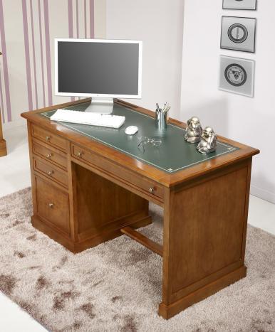Bureau 5 tiroirs Jeanne réalisé en Merisier de style Louis Philippe