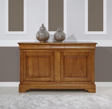 Buffet 2 portes 3 tiroirs anna réalisé en merisier massif de style louis philippe