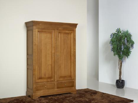 Petite Armoire 2 portes Eric réalisée en Chêne Massif de style Louis Philippe