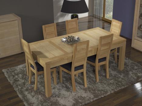 Table de repas rectangulaire 200X100 Alexandre réalisée en Chêne Ligne Contemporaine