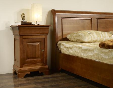 Chevet 1 porte 1 tiroir réalisé en Merisier Massif de style Louis Philippe