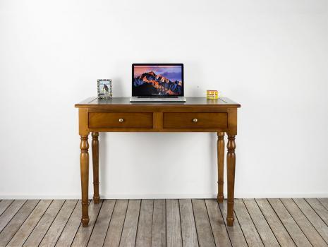 Table à écrire 2 tiroirs réalisée en Merisier de style Louis Philippe