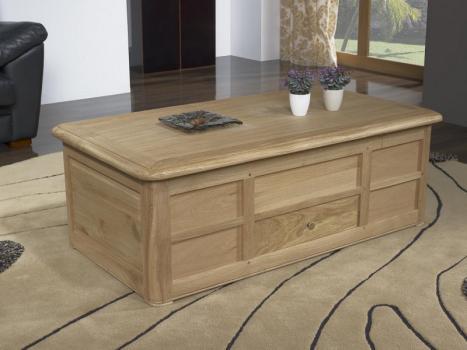 Table Bar Jules réalisée en Chêne de style Louis Philippe Finition Chêne Brossé Naturel
