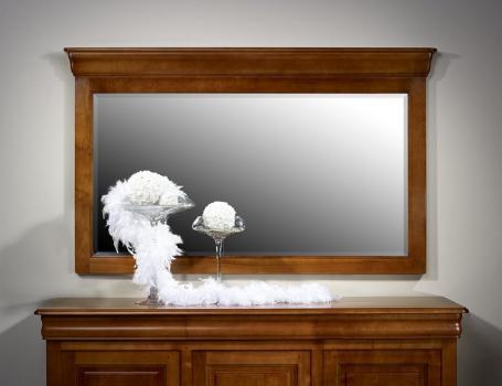 Miroir pour Buffet 4 portes en Merisier Massif de style Louis Philippe