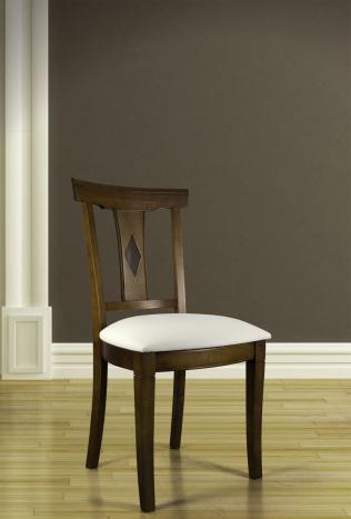 Chaise Syriel réalisée en Merisier Massif de style Louis Philippe
