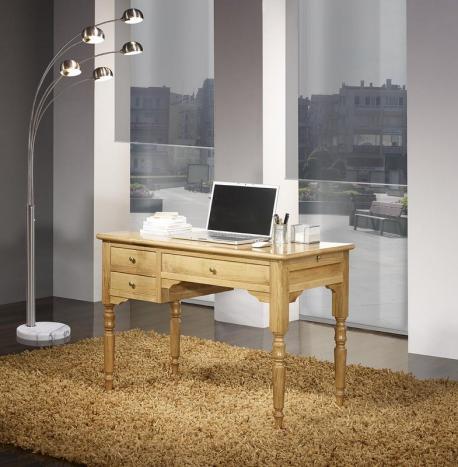 Bureau 1/2 Ministre 3 tiroirs Julien, réalisé en Chêne de style Louis Philippe