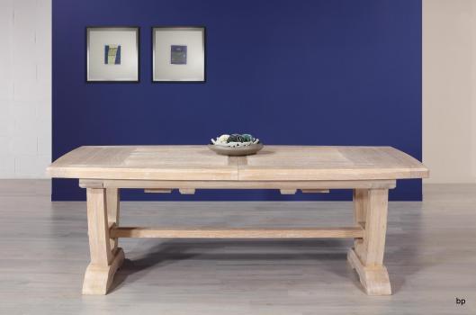 Table rectangulaire Monastère Eliot realisée en chêne 220*110 + 2 allonges de 45 cm