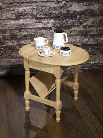 Table Basse ou Bout de Canapé Marc-Eric, réalisée en Chêne de style Louis Philippe Finition Chêne Brossé Naturel