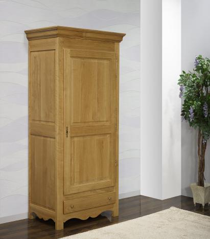 Bonnetière 1 porte 1 tiroir Gabriel réalisée en Chêne Massif de style Campagnard