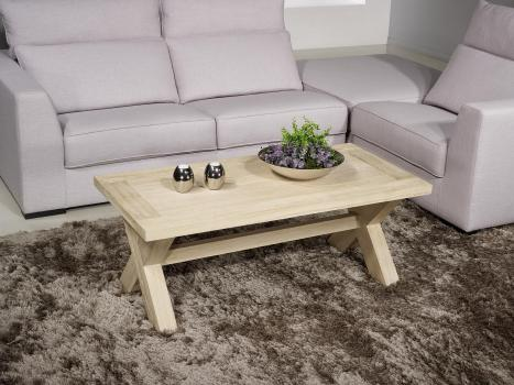 Table basse rectangulaire Jules réalisée en chêne de style Campagnard Finition Chêne Brossé