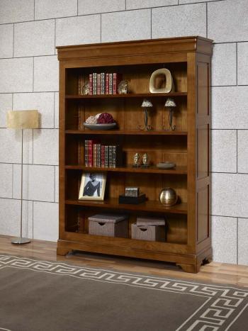 Bibliothèque emma réalisée en merisier massif de style louis philippe