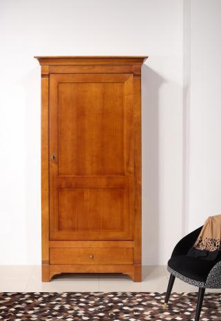 Bonnetière Céline de style Directoire  en Merisier Massif 1porte 1 tiroir