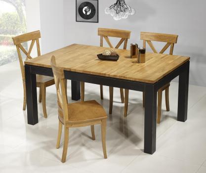 Table de repas rectangulaire 160X100 Théo réalisée en Chêne Ligne Contemporaine VERSION ECOLOGIQUE et Bi-color 1 disponible