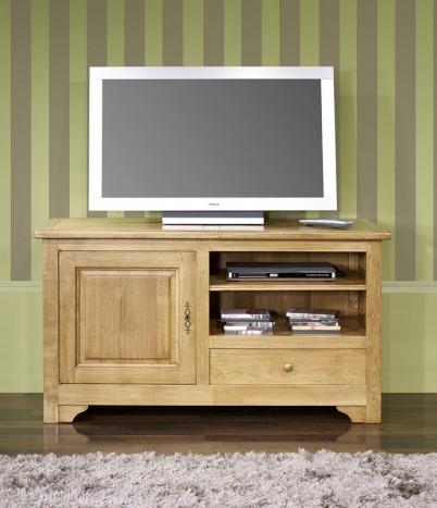 Meuble TV 16/9ème réalisé en Chêne Massif de style Louis Philippe campagnard LONGUEUR 120 cm