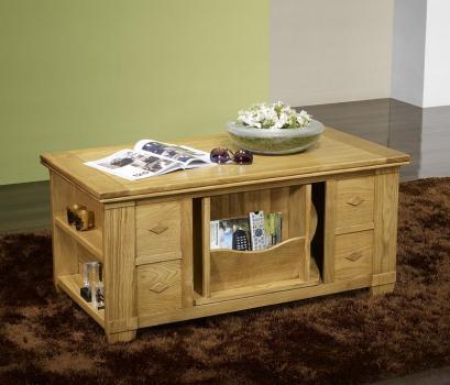 Table basse Brice réalisée en Chêne de style Campagnard Patine Antiquaire