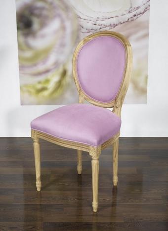 Chaise Simon réalisée en Chêne Massif de style Louis XVI Finition Chêne Brossé