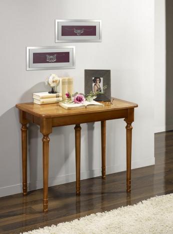 Console ou table Extensible Catherine réalisée en Merisier de style Louis Philippe