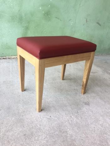 Tabouret de coiffeuse ou de table à écrire  en chêne massif