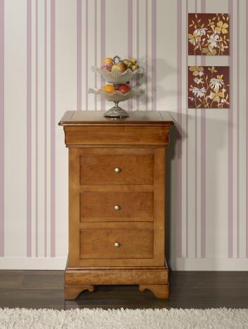 Chiffonnier 4 tiroirs  réalisé en Merisier Massif de style Louis Philippe