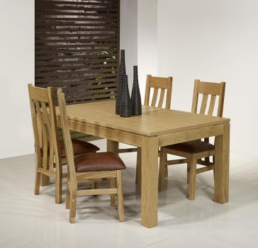 Table de repas rectangulaire 180X100 Théo réalisée en Chêne Ligne Contemporaine