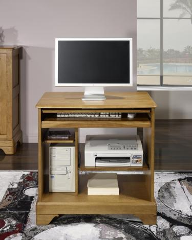 Petit Bureau Informatique réalisé en Chêne de style Louis Philippe