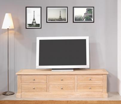 Meuble TV 16/éme Laurent réalisé en chêne de style Directoire
