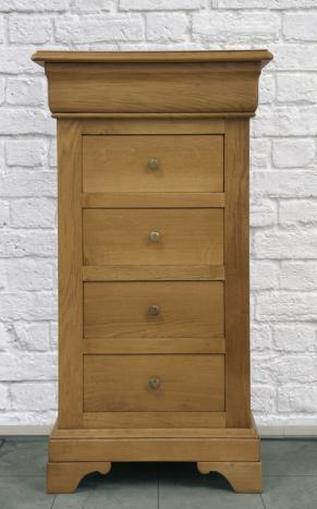 Chiffonnier 5 tiroirs réalisé en chêne massif de style Louis Philippe BONNE AFFAIRE 1 DISPONIBLE