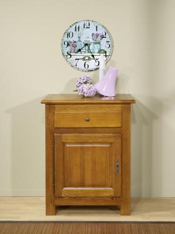 Confiturier 1 porte 1 tiroir réalisé en Chêne Massif de style Campagnard 1 seul disponible Finition Chêne Doré vieilli
