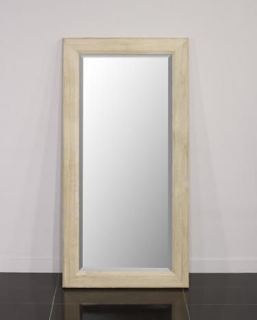 Miroir glace biseautée 170x60 réalisé en Chêne Massif