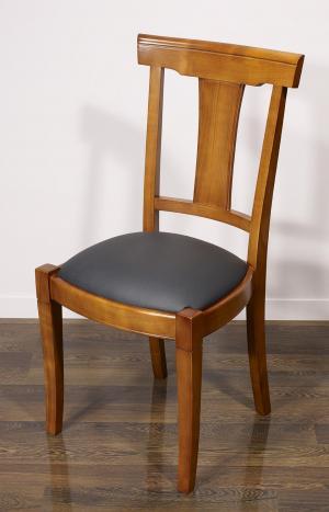 Chaise Lou réalisée en Merisier Massif de style Louis Philippe
