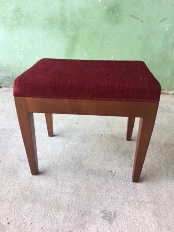 Tabouret de coiffeuse ou de table à écrire  en merisier massif