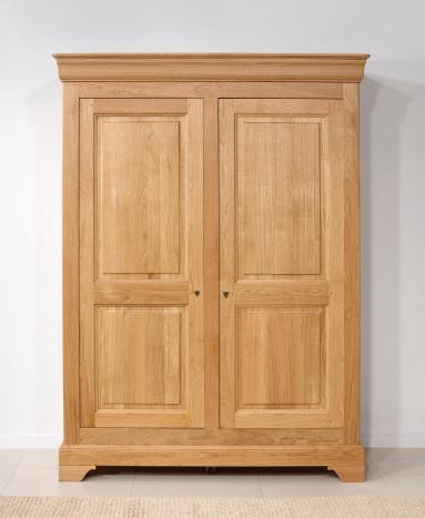 Armoire 2 portes   en Chêne massif de style Louis Philippe