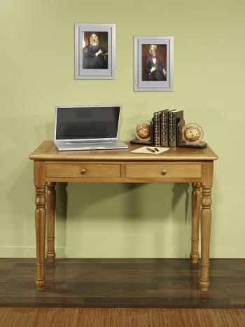 Table à écrire 2 tiroirs réalisée en Chêne de style Louis Philippe Largeur 100