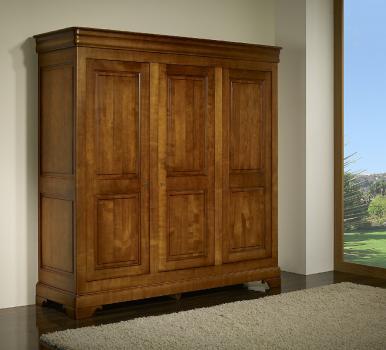 Armoire 3 portes Anna réalisée en Merisier Massif de style Louis Philippe