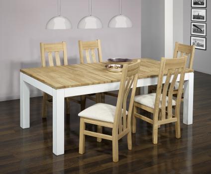 Table de repas rectangulaire Alexandre 200x100 réalisée en Chêne Ligne Contemporaine VERSION ECOLOGIQUE et  bi-color