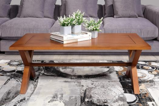 Table basse rectangulaire Jules réalisée en chêne de style Campagne Finition Chêne MOYEN (1 seule DISPONIBLE)