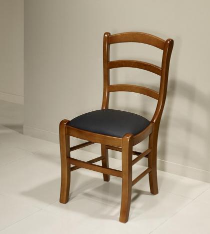 Chaise Madeleine en hêtre massif de style Louis Philippe