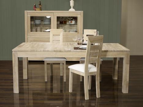 Table de repas rectangulaire Alexandre 200x100 réalisée en Chêne Ligne Contemporaine