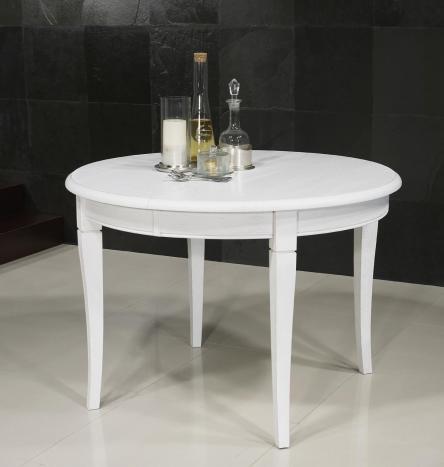 Table ronde Fabien réalisée en Chêne massif de style Louis philippe DIAMETRE 110