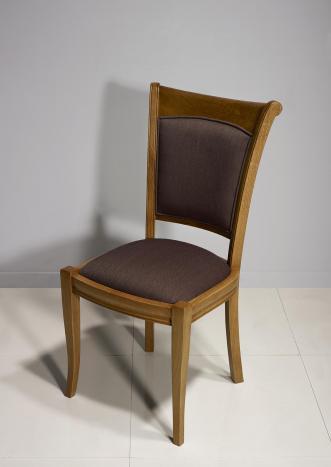 Chaise Benjamin en chêne massif de style Louis Philippe
