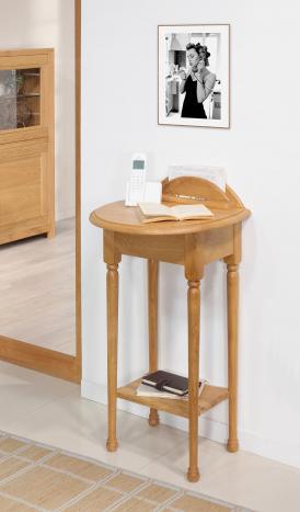 Table  Téléphone  Antoine réalisée en Chêne de style Louis Philippe