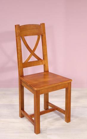 Chaise Cecile réalisée en Merisier massif de style Campagne Assise Merisier
