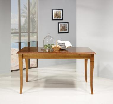 Table de repas Emeline réalisée en Merisier Massif de style Louis Philippe 140x100
